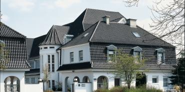 "Vario® hollow interlocking tile straight-cut ""Altstadt Vario"" - grey-black"