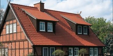 "Vario® hollow interlocking tile straight-cut ""Altstadt Vario"" - natural red"