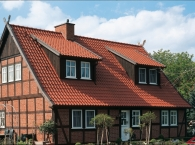 "Vario® hollow interlocking tile straight-cut ""Altstadt Vario"" - natural red"