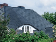 Vario® hollow interlocking tile - slate black